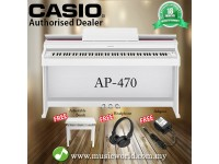 CASIO AP-470 88 Key Celviano Digital Piano White With Bench and Headphone (AP470 AP 470)