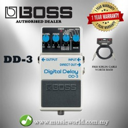 Boss DD-3 Digital Delay Guitar Effect Pedal (DD3 / DD 3)