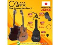 ZTA 38 Inch Acoustic Guitar SAPELE Wood Cutaway Starter Pack Folk Guitar Bundle