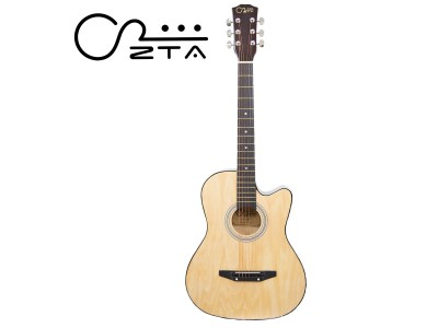 ZTA 38 Inch Acoustic Guitar Natural Cutaway Starter Pack Folk Guitar Bundle