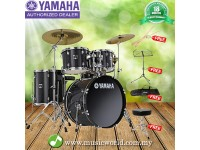 Yamaha GigMaker Black Drum Set Acoustic Drum Kit With free Stool, Drum Stick, Music Stand