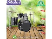 Yamaha Rydeen 5 piece Acoustic Drum Set Black With Drum Stool, Drum Stick, Music Stand