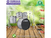Yamaha Rydeen 5 piece Acoustic Drum Set Silver With Drum Stool, Drum Stick, Music Stand