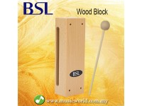 BSL Wood Block Percussion Wooden Two Sided Woodblock  Music Instrument With Mallet
