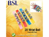 BSL Wrist Bell Hand bells In Pair 4 Bell Percussion Infant Developmental Toy Musical Instrument