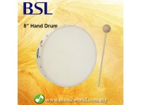 BSL 8 Inch Pretuned Hand Drum Frame Drum World Percussion With Mallet Drum Stick