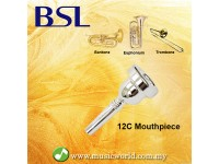 BSL 12C Trombone Baritone Euphonium Mouthpiece Silver Plated Mouth Piece Yamaha Pearl Jupiter Bach Allora