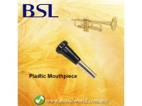 BSL Plastic Trumpet Mouthpiece Black Practice Student Beginner Silver Plated Mouth Piece