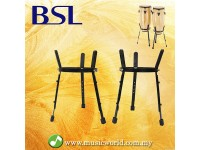 BSL Adjustable Conga Stand Pairs Universal Black Metal Barrel Basket