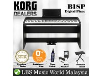 Korg B1SP 88 Key Digital Piano Black With Bench Headphone Electric (B1 SP / B1-SP)