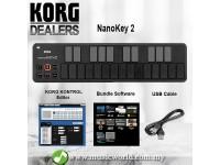KORG nanoKEY 2 Midi Controller USB Keyboard Black (nano Key nanokey2)