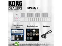 KORG nanoKEY 2 Midi Controller USB Keyboard White (nano Key nanokey2)