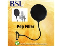 BSL Double Layer Pop Filter Mic Filter Studio Microphone windscreen Mic Mask Block Shield