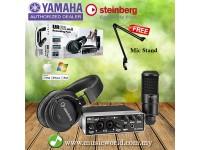 Yamaha Steinberg UR22 MKII Studio Recording Pack Version 2 Interface Cubase Headphone Mic