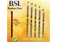BSL Chinese Flute Bamboo Flute Standard Series With Plastic Tip C D E F G key