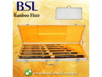 BSL 6 Piece Chinese Bamboo Flute Set Professional Key C D E F G A With Aluminium Case