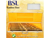 BSL 7 Piece Chinese Bamboo Flute Set Black Bamboo C D E F G A Bb Key  With Aluminium Case